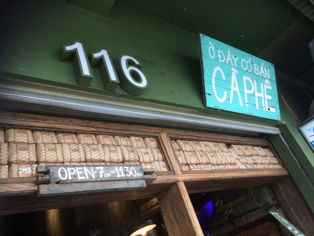 Grab a coffee at Cong Caphe, Hanoi, Vietnam