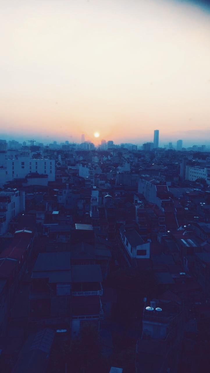 View from SkyBar in Hanoi, Vietnam