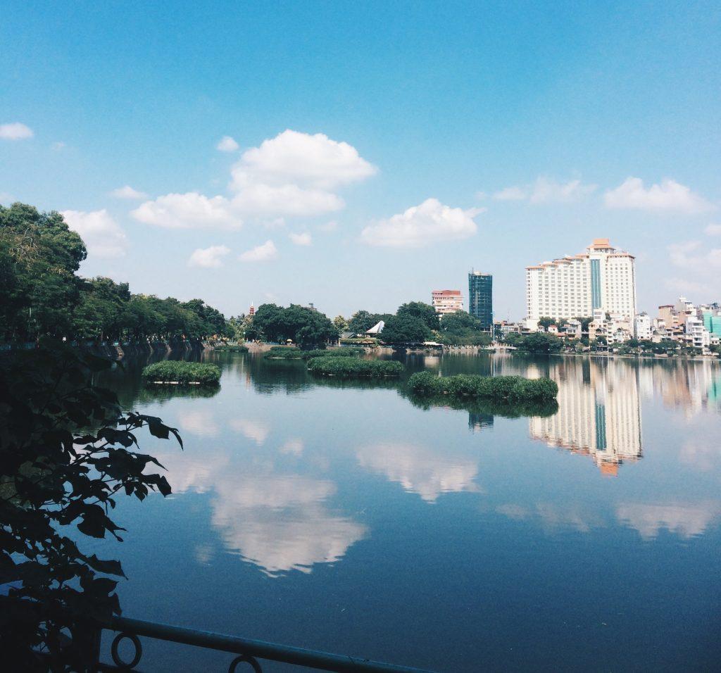 Cycle around West Lake, Hanoi, Vietnam