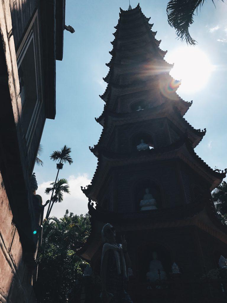 Stroll around Chua Tran Quoc, Hanoi, Vietnam