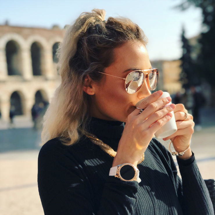 Coffee by the Arena in Verona