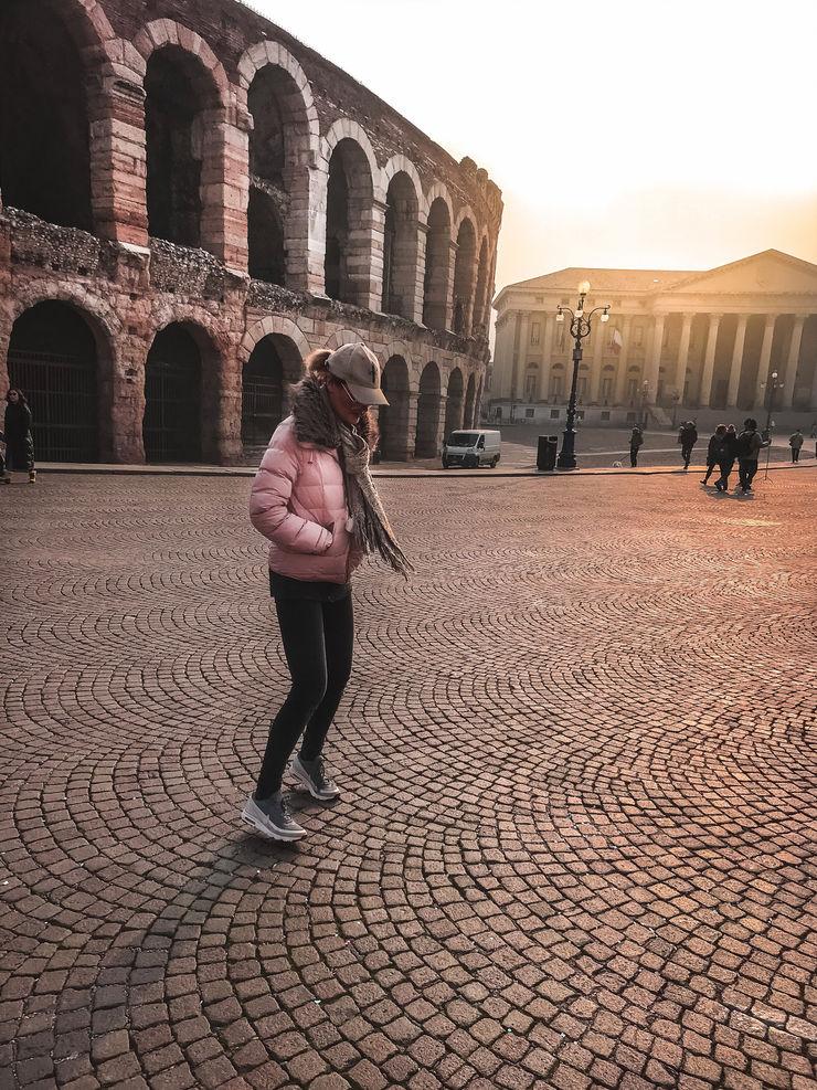 Girl Going Global visits Verona - outside the Arena