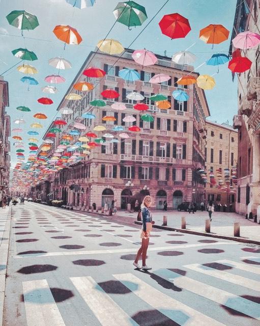 Umbrella Street | Genoa | Italy