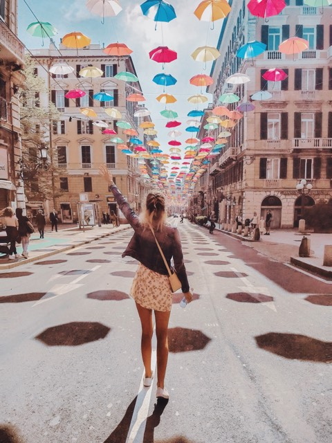 The Umbrella Street (ombrello), Genoa